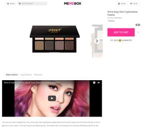 Memebox shipping screenshot