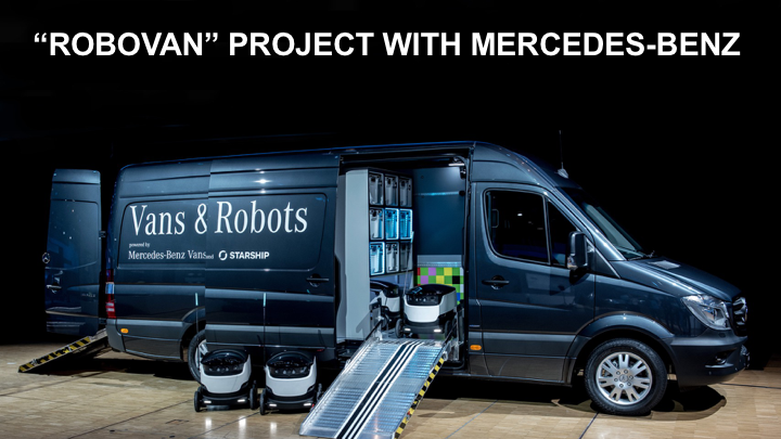 Robovan - Starship and Mercedes Benz Partenership