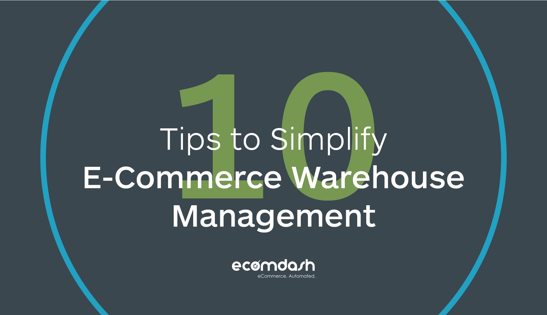 Simplify E-commerce Warehouse Management