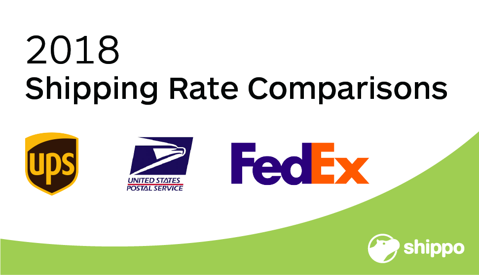 FedEx vs  UPS vs  USPS — 2018 Shipping Rate Comparisons | Shippo