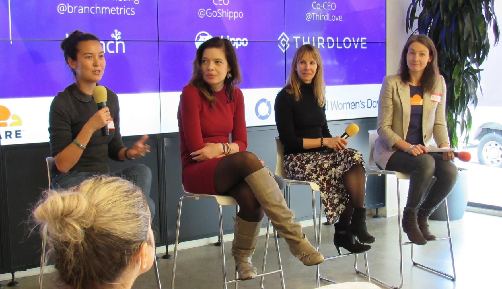 Startup founders Laura Behrens-Wu, Mada Seghete, Heidi Zak, and Michelle Zatlyn