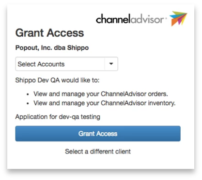 ChannelAdvisor Shipping Integration Screenshot