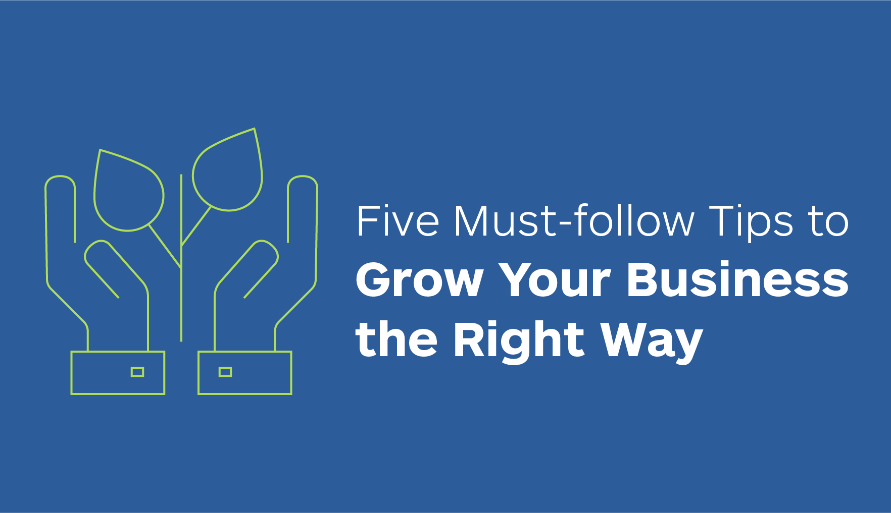 5 Must-follow Tips to Grow Your Business the Right Way