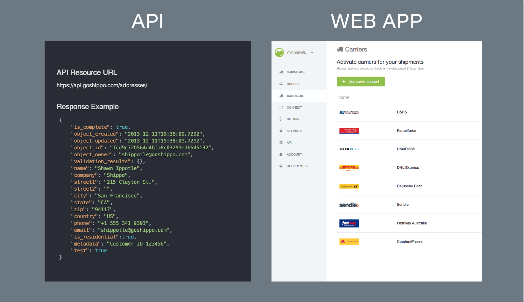API vs. web app