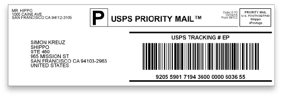 USPS Long Label
